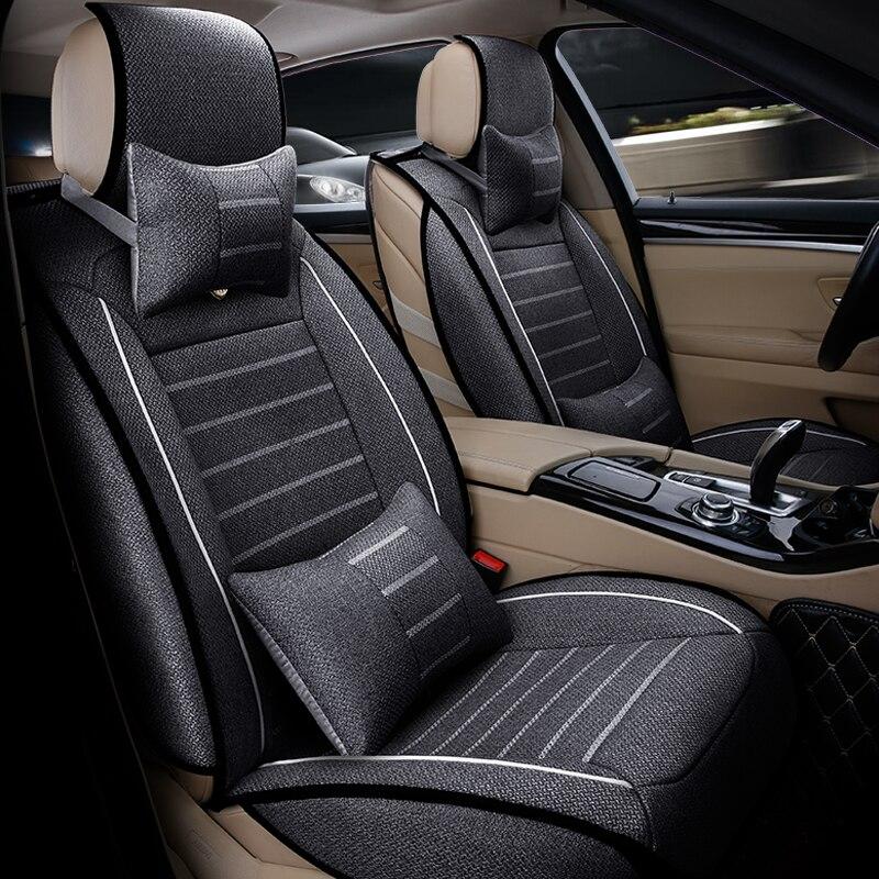 (Avant + arrière) housses de siège de voiture universelles en lin de haute qualité pour MG GT MG5 MG6 MG7 mg3 mgtf accessoires de voiture coussins de voiture style de voiture