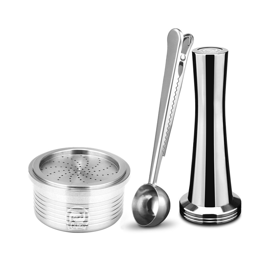 1 Capsule 1 Tamper Lavazza EP Crema Coffee Filters Stainless Steel Reusable Coffee Tea Dripper Refillable Lavazza Espresso Point