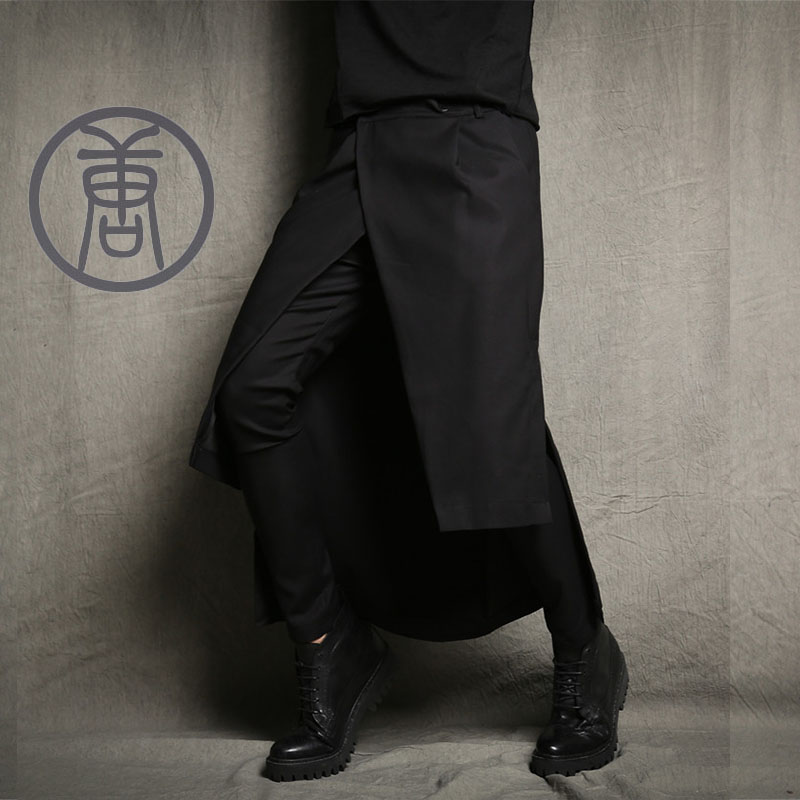S-5XL! Мужской брюки загрузки вырезать джинсы тенденция костюмы Штаны юбка Новинка шаровары повседневные штаны