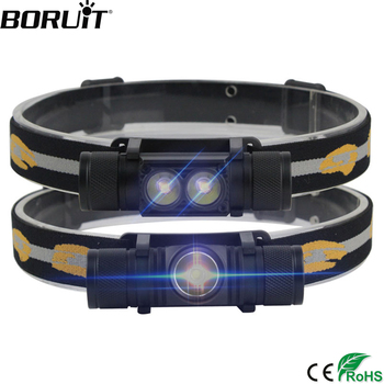 Boruit 1000lm XM-L2 led 헤드 라이트 미니 화이트 라이트 헤드 토치 usb 충전기 18650 배터리 헤드 램프 캠핑 사냥 손전등