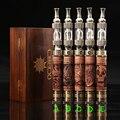 1 Unidades E Incendios X Fuego 2 Kit Cigarrillo Electrónico V2 vaporizador Voltaje Variable Batería Giro De Madera Efire x-fuego con Madera caja