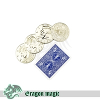 점보 동전 생산 매직 트릭 무료 배송 Magia 트릭 장난감 절반 달러 동전 닫습니다 재미 Magie