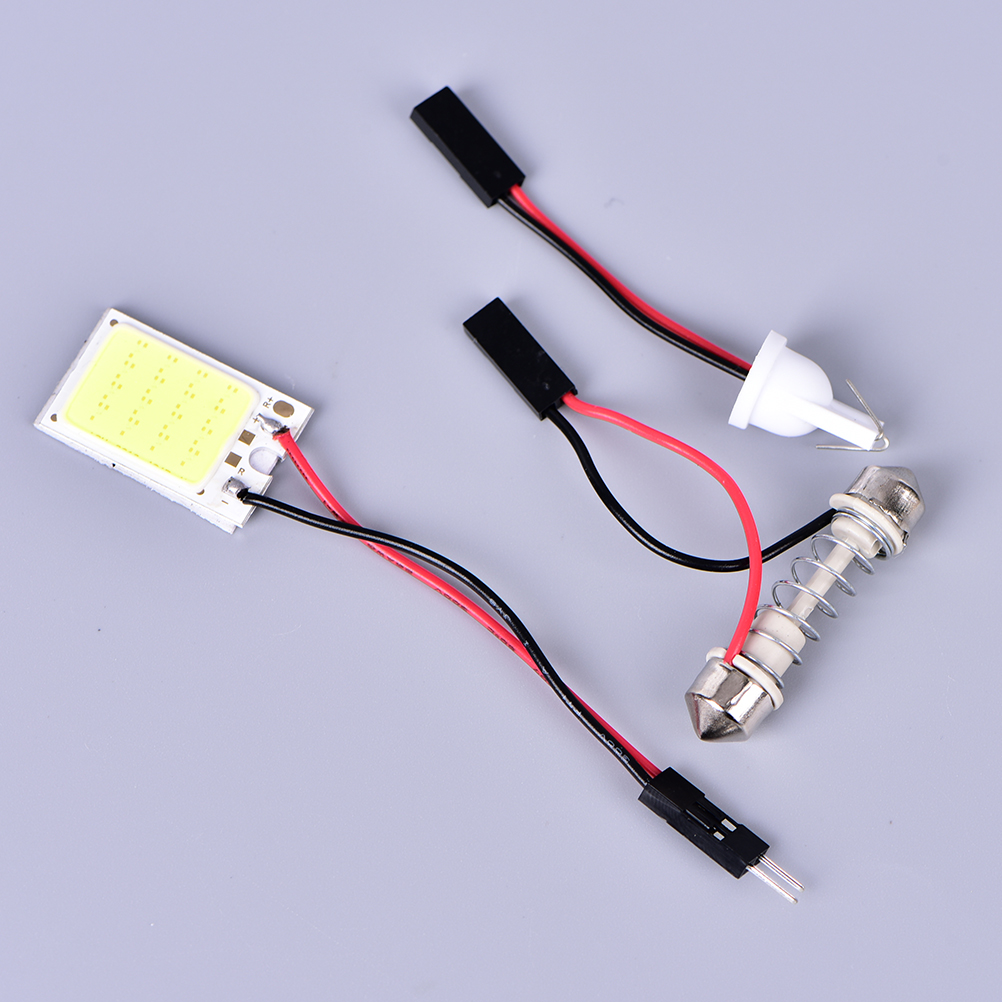 LED COB Chip Auto Interior Light Panel Reading Map Bulb Lamp Festoon Dome Adapter 12V DIY Luggage Compartment Lights