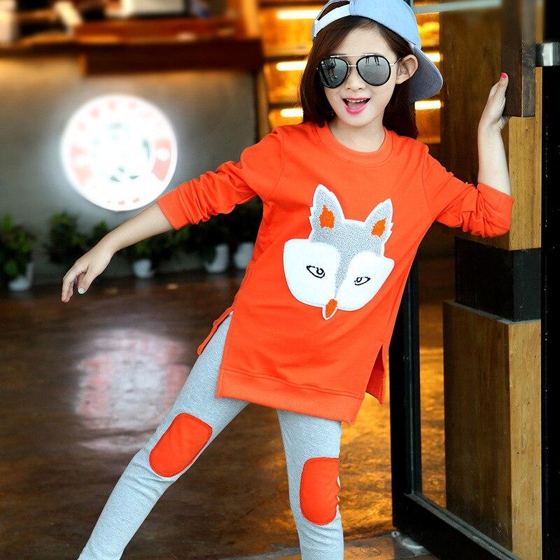 Ropa para niñas 2018 Nueva ropa de ocio para niños Traje Moda Manga - Ropa de ninos