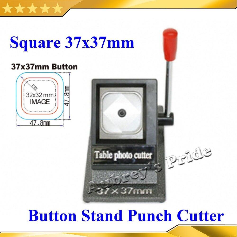 جديد اليدوية مربع 37x37 ملليمتر متعددة ورقة حامل ورق الجرافيك لكمة يموت القاطع لبرو زر صانع-في قواطع الدائرة من المنزل والحديقة على  مجموعة 1