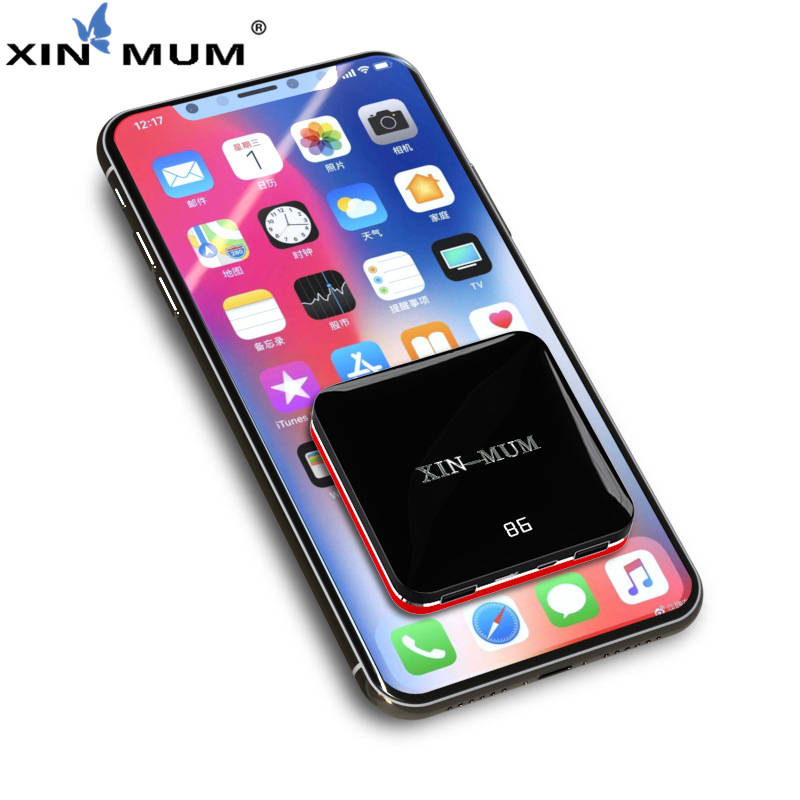 XIN-MUM Mini Powerbank 8000 mah double USB Ultra-mince Portable Charge rapide batterie externe affichage LCD pour iPhone Samsung HuaweiXIN-MUM Mini Powerbank 8000 mah double USB Ultra-mince Portable Charge rapide batterie externe affichage LCD pour iPhone Samsung Huawei