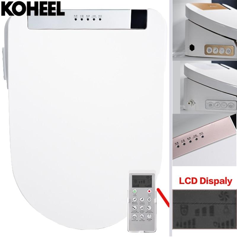 KOHEEL LCD 3 Couleur Intelligent Siège De Toilette Washlet Allongée Électrique Bidet Smart Cover Bidet Chauffage Se Trouve LED Lumière Wc