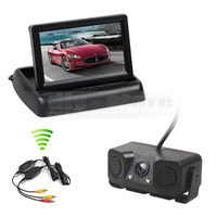 DIYKIT Wireless 4 3 Inch Car Reversing Camera Kit Back Up Car Monitor Parking Radar Sensor