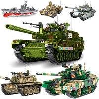 New Theme Tank Building Blocks 1000+pcs Building Blocks T90 M60 Leopard Tank Models Toys For Children Compatible With Legoe Tank