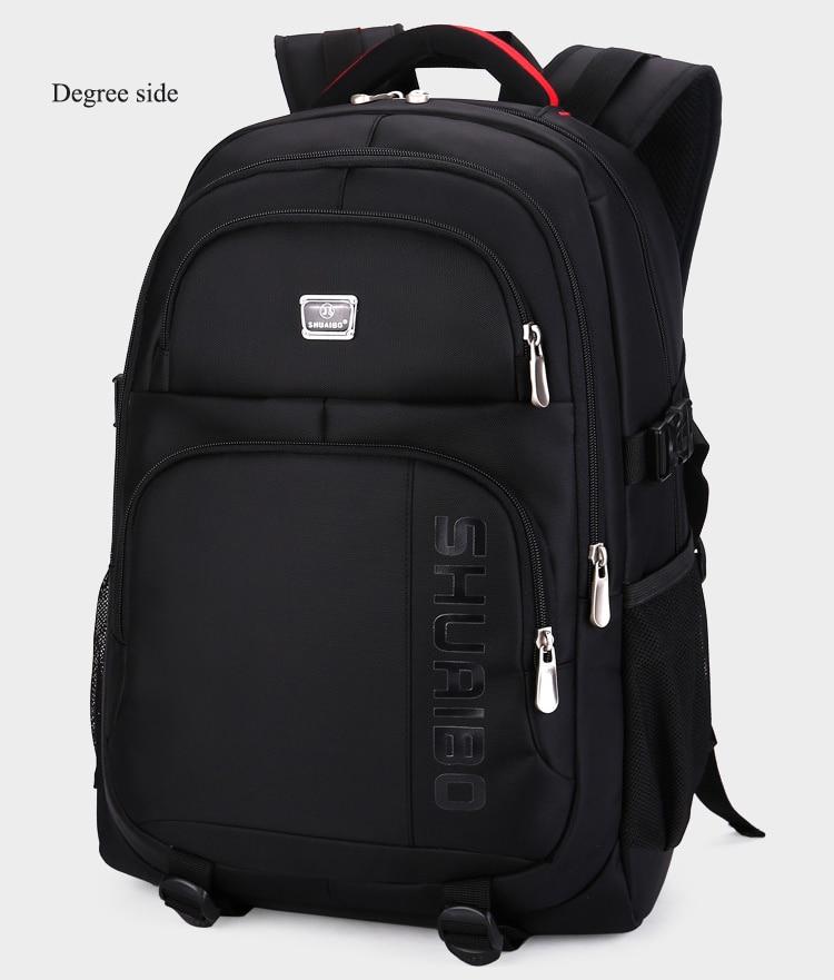 SHUAIBO brand men's business Backpack 15.6 inch Laptops Backpacks travel waterproof school bags large capacity computer book bag