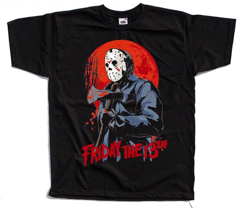 Friday The 13 V1 Movie Black T Shirt All Sizes S 5Xl