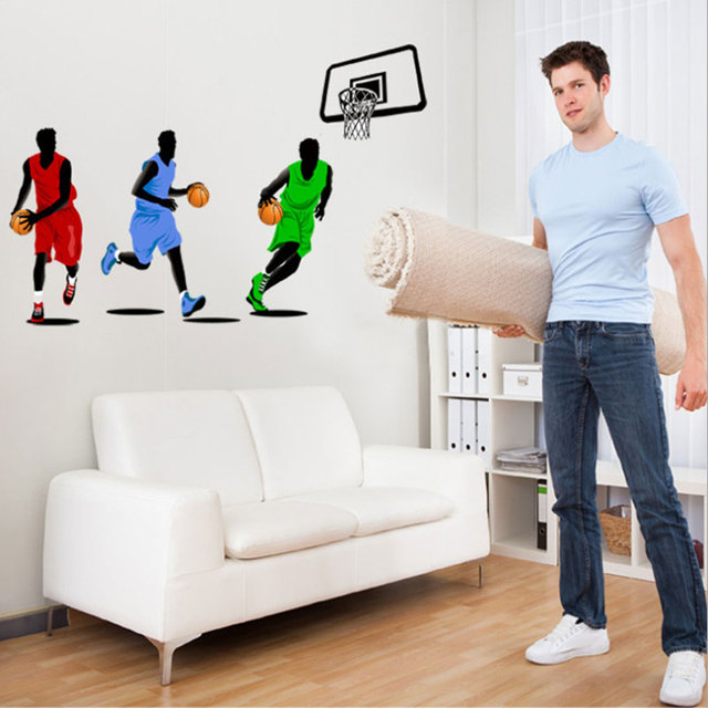 Gym Decorative Basketball Wall Stickers Bedroom Walls Environmental  Material Sports Wall Sticker Environmental Background Part 40
