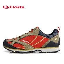 2016 Clorts Low-Cut Hiking Shoes Men Suede Climbing Shoes Suede Leather Trekking Shoes Wear-Resistant Mountain Shoes 3E003A/B