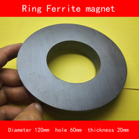 outer diameter 120mm hole 60mm thickness 20mm work temperature 40 to +220 Celsius permanent ring ferrite magnet