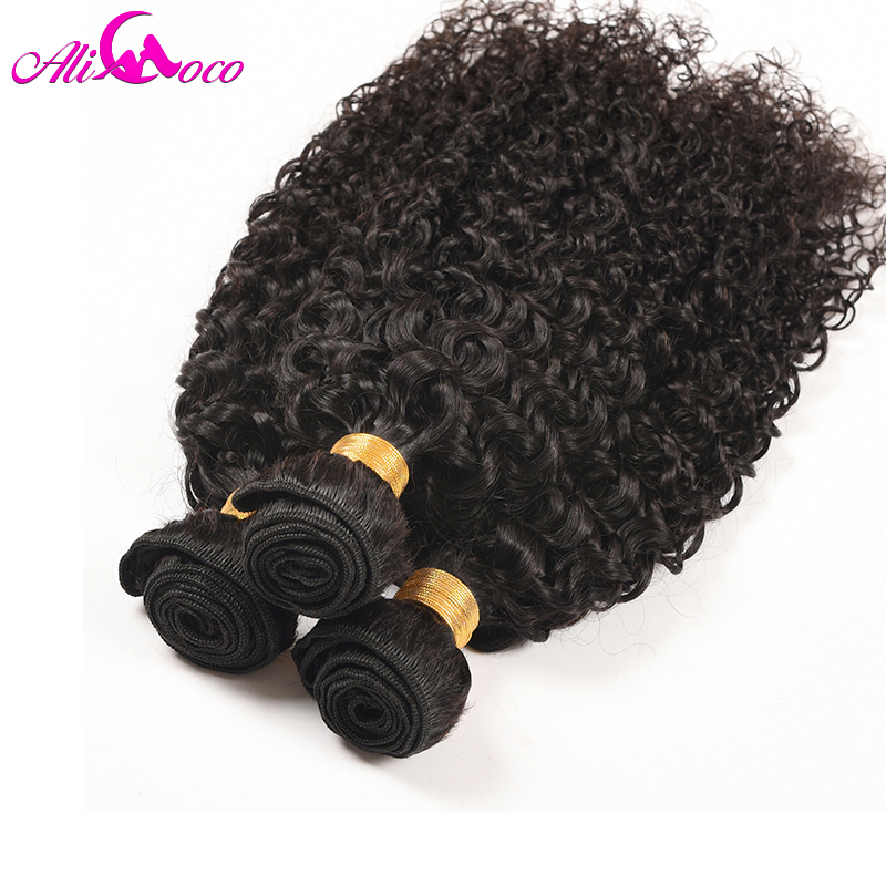 Ali Coco Hair Peruvian Kinky Curly 3 Piece 100 Human Hair Extensions 10 28 inch Natural