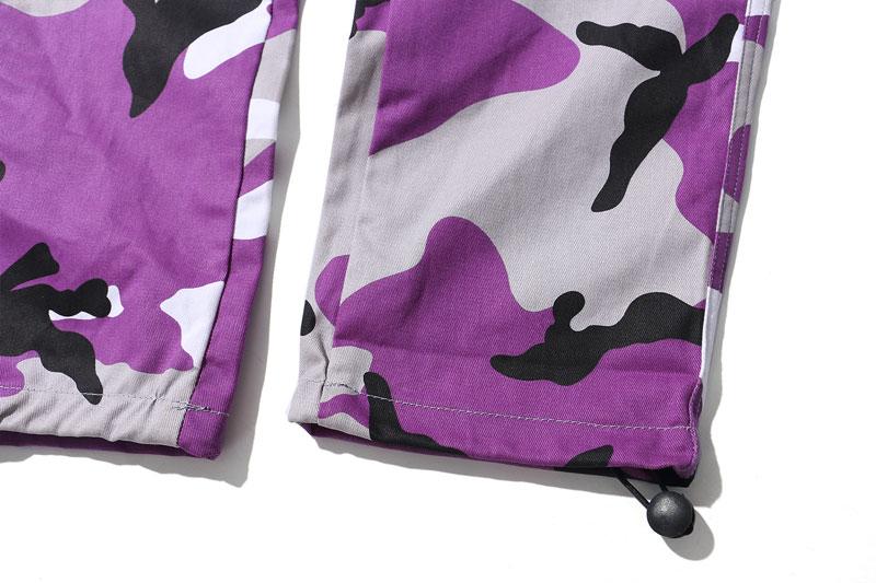 Tri Color Camo Patchwork Cargo Pants 9