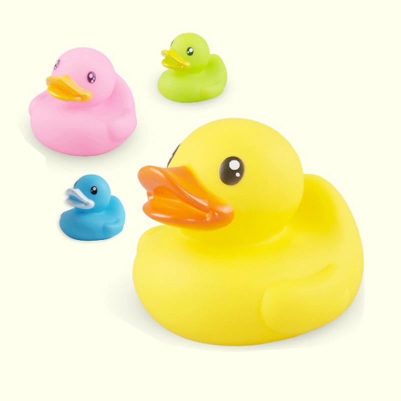 4 Pcs Lot Baby Bath Toys Cute Bathing Floating Rubber