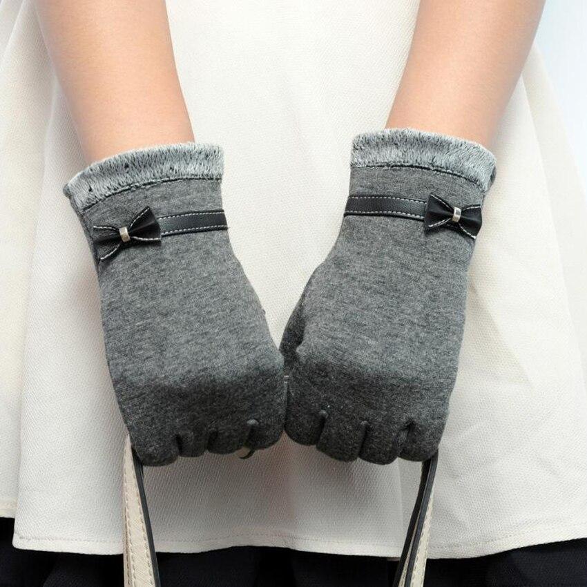 JECKSION Women's Winter Fashion Warm Gloves Cotton Pu Leather Screen Wrist Mittens Patchwark luvas Girls #LSN - ShenZhen Jecksion Trading Store store