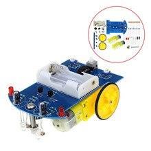 D2-1 DIY Kit Intelligent Tracking Line Smart Car Kit Suite TT Motor Electronic P