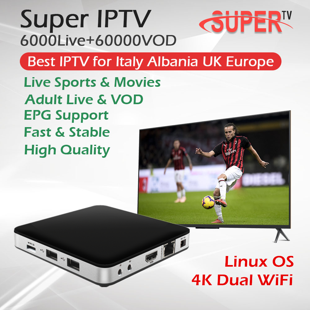 Tvip 605 The best Itlay Iptv Dual OS Android Linux System Amlogic S905X WiFi Quad core