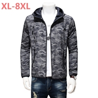 PLus New jacket 9XL 8XL ultra thin jacket men brand clothing ultra light sunscreen coat male top quality breathable soft tops