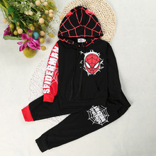 Spider Man Youngsters Clothes Set Boy Spider Man Sport Go well with Child Garments Set Hoodie jacket With Pant Boy Spiderman Costume YL193