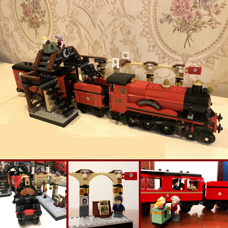 897pcs Legoing Harry Potter Magic Hogwarts Express Train Model Set Building Blocks Bricks 75955 Toys For Kids Christmas Gift