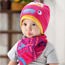 2016 new baby hat girl pink blue cotton hat infant bandana bibs saliva towel turban fitted girls hats toddler beanie sleep cap