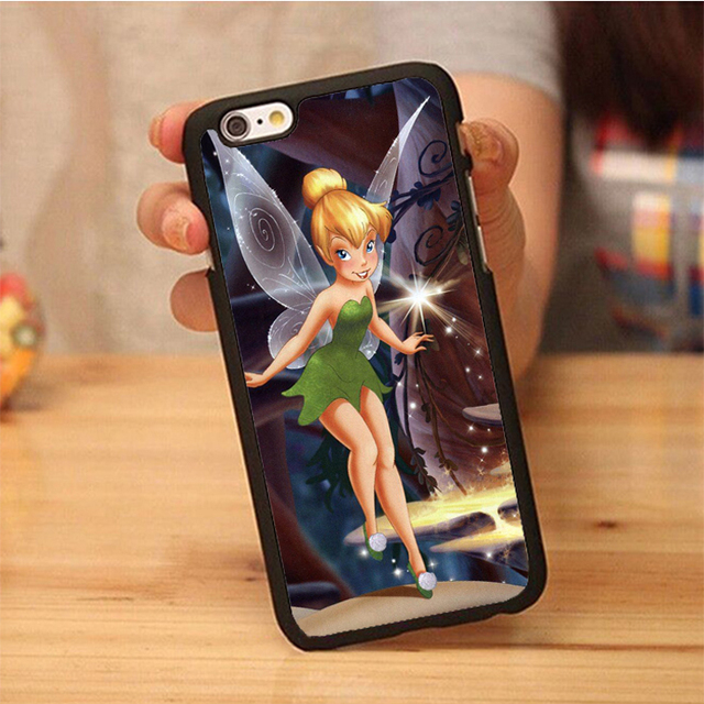 best service a1a36 79c8d US $3.99 |Cartoon Princess Tinkerbell phone Soft Rubber Back Case Cover For  iPhone 6 6S Plus 7 7 Plus 5 5S 5C SE 4 4S Mobile phone bag-in Fitted Cases  ...