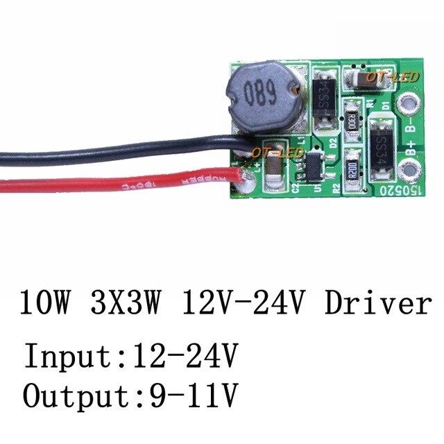 1pcs high quality 12v 24v 10w led driver for 3x3w 9 11v 900ma high1pcs high quality 12v 24v 10w led driver for 3x3w 9 11v 900ma high power 10w led chip transformer