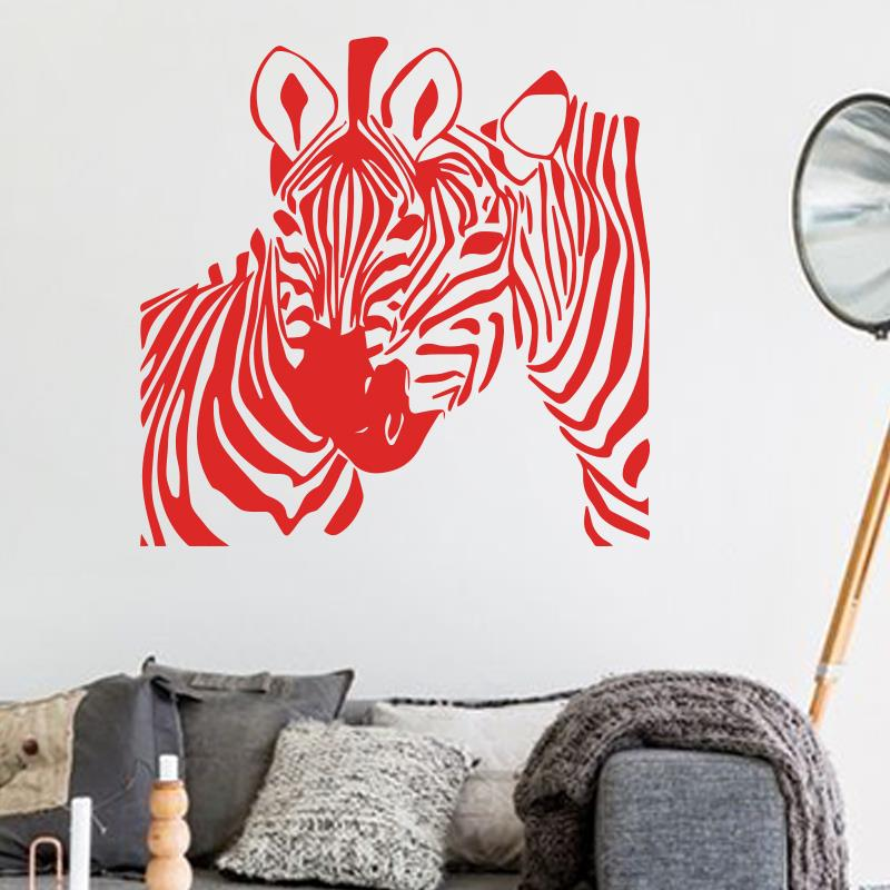 Art Design Cheap Home Decoration Pvc Zebra Wall Sticker Waterproof Vinyl House Decor Animal Horse Decals