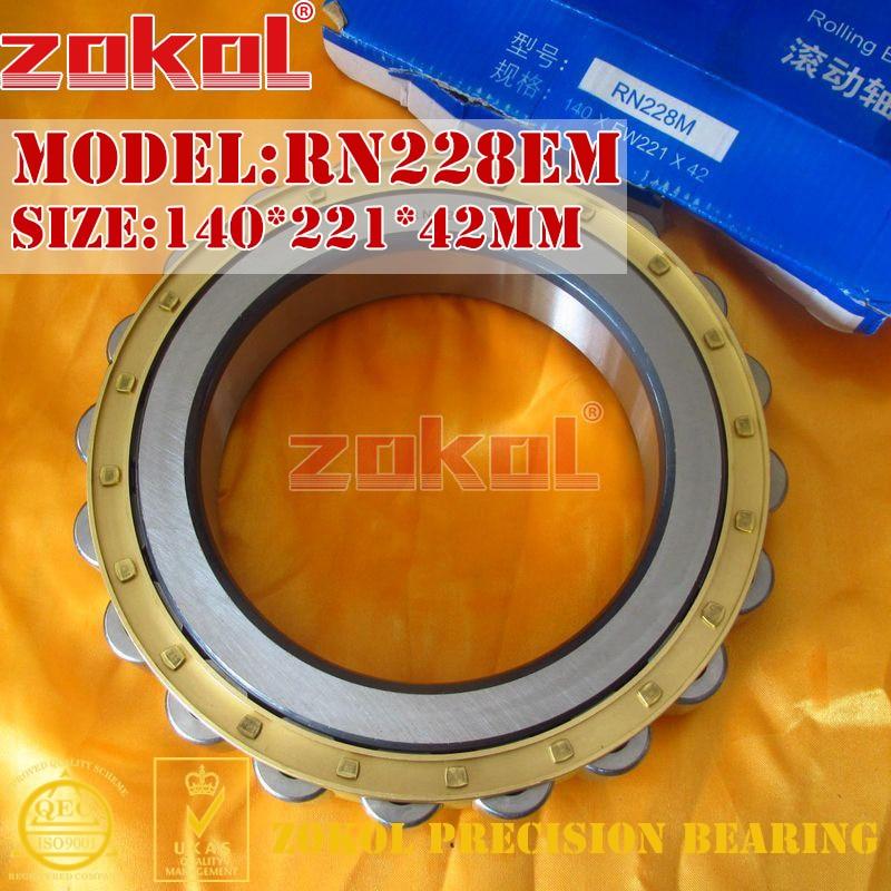ZOKOL RN228EM bearing RN228 E M 502228EH Cylindrical roller bearing 140*221*42mm цена
