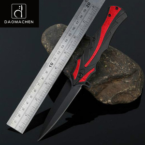 DAOMACHEN tactical survival folding pocket knives 3Cr13 black blade utility camping hunting knife outdoor edc knife multi tool