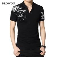 Summer 2016 Men T Shirt Letters Flocking Print Henry Collar T Shirts Short Sleeves Straight Loose