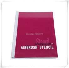 Airbrush Stencil Book 14 Cartoon Designs For Children -100 Designs Temporary Tattoo Stencil For Body Art Paint Free Shipping