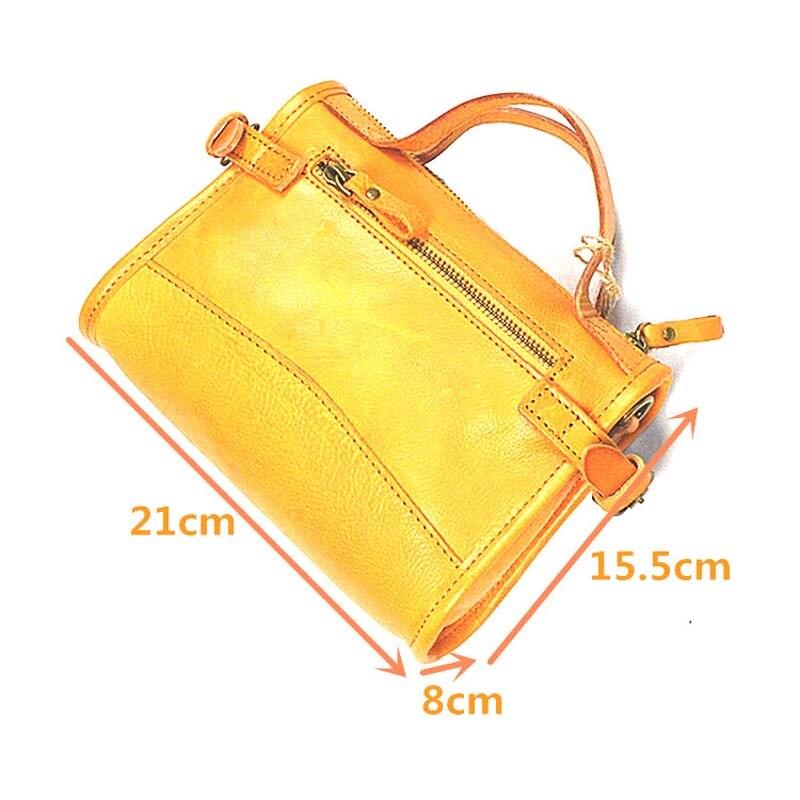 AETOO Original bolso de mujer de cuero curtido vegetal retro bolsa de crema de árbol bolsa de mensajero portátil hecha a mano - 6