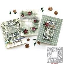 Square Hollow Flower Frame Metal Cutting Dies Stencils For DIY Scrapbooking  Paper Card Craft Embossing Die Cut Template2019