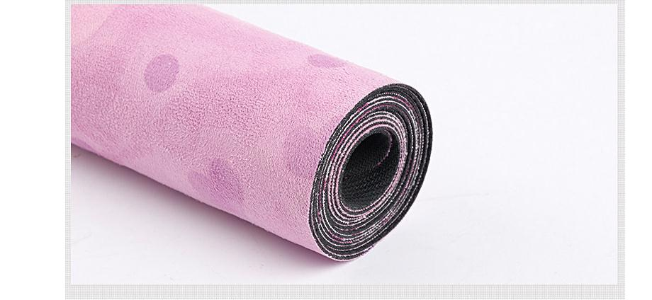 Suede Yoga Mat Non-slip Gym Mat For Gym Fitness Sports Yoga Pilates Exercise Yoga Mats Natural Rubber Ultralight 15