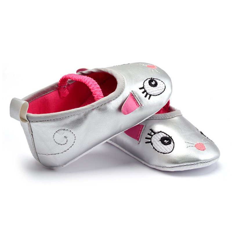 0-12M Cartoon Baby Toddler Shoes Lovely Girl Baby Shoes Shallow Slip-on Kids Crib Shoes