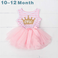 My Baby Girl First Birthday Dress Kids Dresses for Girls Princess Tutu Smash Outfits 1st 2nd 3rd Birthday Newborn Baptism Wear