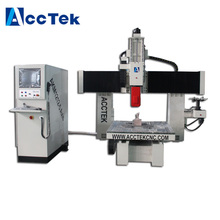 Wood pattern cnc router / 360 degree head turn 3axis 4axis 5 axis milling machine