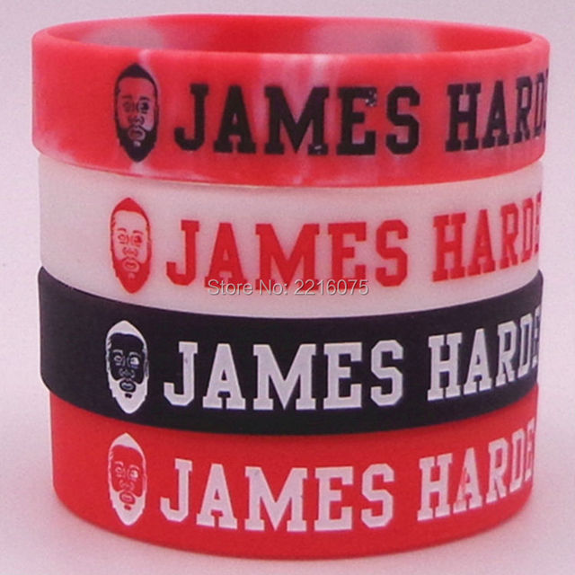 40pcs Head Inspirational I Am The Leader Here James Harden Silicone Wristband Rubber Bracelets Free Shipping