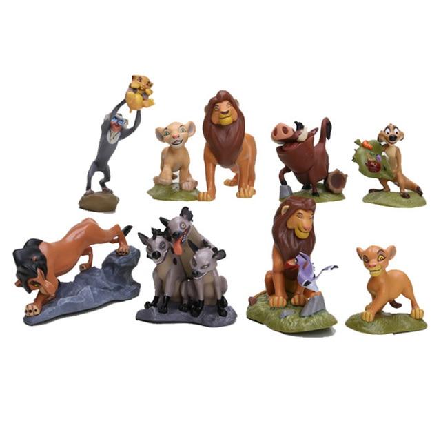 9 unids/set el León rey león guardia Simba Nala Timon PVC figuras de acción modelo clásico juguetes mejores regalos de navidad
