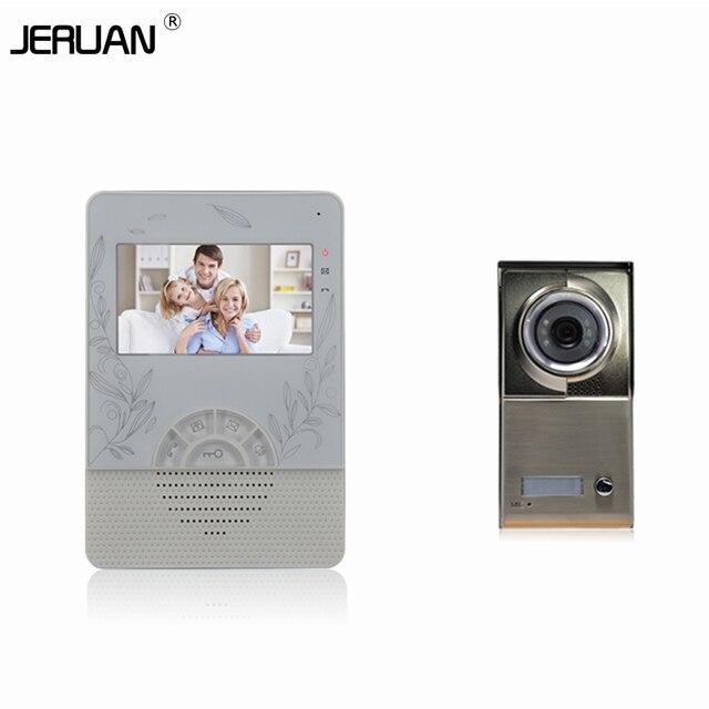 """Home 4.3"""" INCH video door phone wired video call door Metal panel doorphone IR camera video door free shipping"""