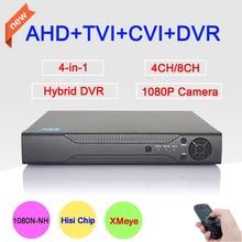 Новый Металлический Корпус DVR 4CH/8CH 1080 P/960 P/720 P/960 H XMeye ПРИЛОЖЕНИЕ коаксиальный Четыре в одном Гибридных Коаксиальных CVI TVI AHD DVR Бесплатная Доставка