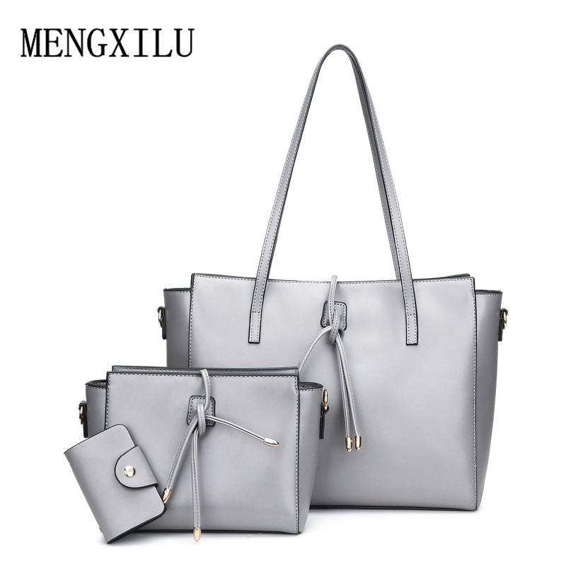 3 Pcs Luxury PU Leather Bags For Women Handbag Female Designer Brand Casual Tote Composite Bags Women Shoulder Bags bolsos mujer rusoonnic women handbag set designer ladies composite bag pu leather shoulder bags alligator tote bolsos mujer mochila