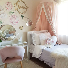 2019 New Kids Baby Bedcover Bed Canopy Mosquito Net Tent Cotton Curtain Bedding Dome White Pink Grey