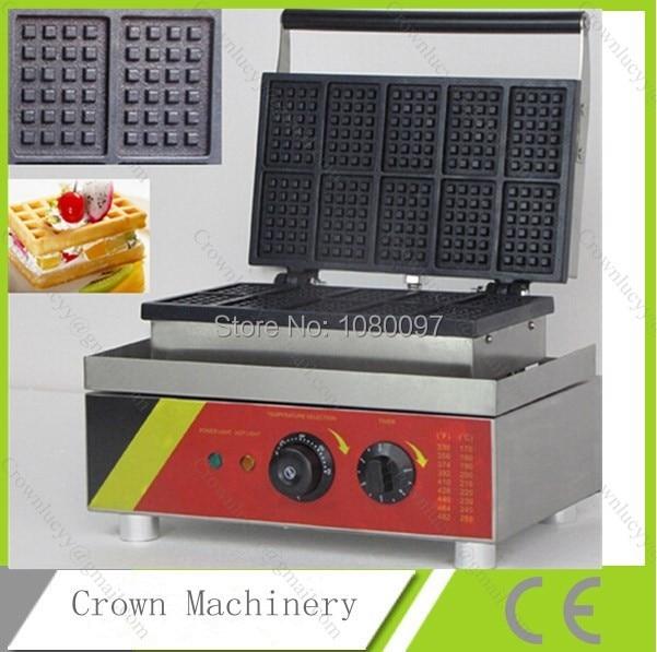 10pcs Electric rectangle Waffle pan waffle maker waffle mold