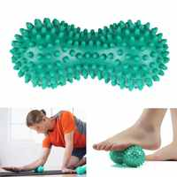 Peanut Massage Ball Spiky Trigger Point Relief Muscle Pain Stress Peanut Ball Therapy Health Care Gym Muscle Relex Apparatus