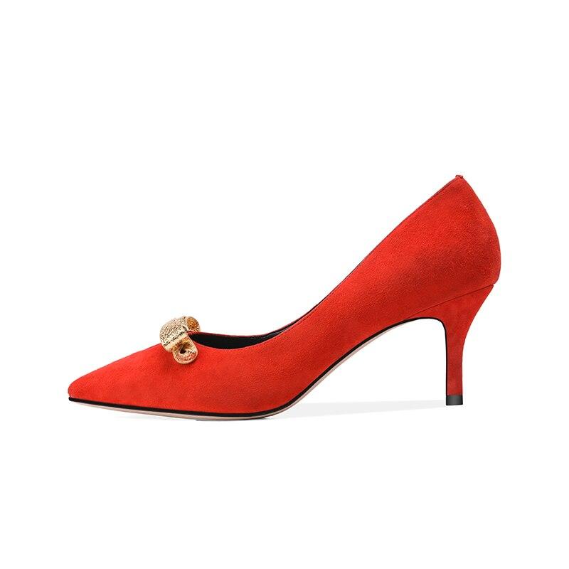 05278d53 Negro Rojo Del De 2019 Bowtie Pie Chico Bombas Zapatos Negro En Tamaño  Karinluna rojo Moda Dedo 34 39 Puntiagudo Deslizamiento Mujer qHg6E6